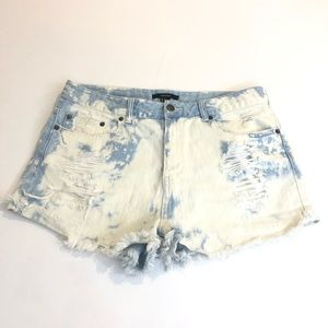 Forever 21 cut off high waisted denim shorts